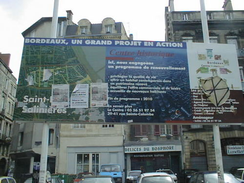 Annonce des travaux dans le Bordeaux près de Saint-Michel