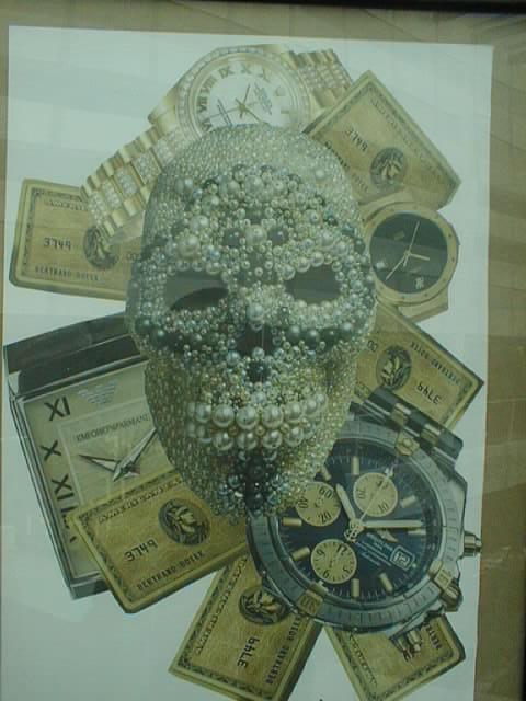 Tête de mort diamantée